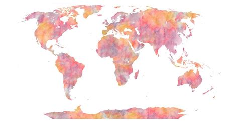 The World In Watercolor by World Map Watercolor Painting Painting By Georgeta Blanaru