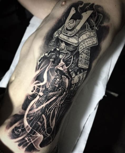samurai mens rib piece best tattoo design ideas
