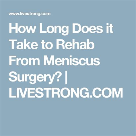 how long does it take to recover after ac section best 25 meniscus surgery ideas on pinterest torn