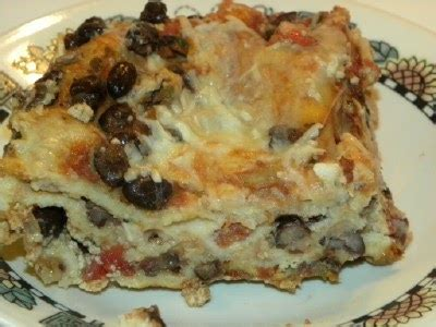 Lasagna Coffee Bean cookin with pickle black bean lasagna