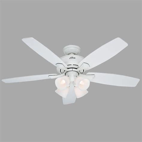 Hunter Belmor 52 In Indoor White Ceiling Fan With Light White Ceiling Fan Light Kit
