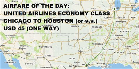 airfare   day united airlines economy class chicago  houston  vv usd