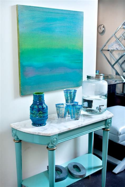 turquoise console table hollywood regency denlibrary
