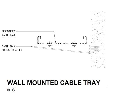 Typical Detail For Cable Tray Installation And Support