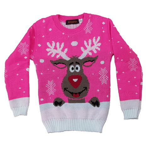 ebay xmas jumpers kids childrens christmas jumper xmas girls boys retro