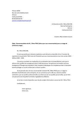 Exemple Lettre De Recommandation Pour Un Ami modele de lettre de recommandation d un ami