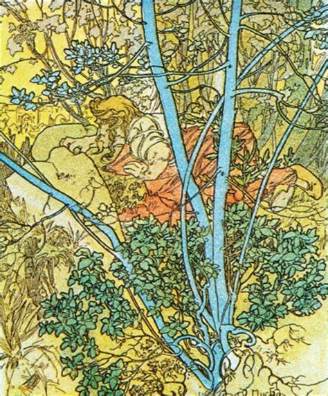 vintage art deco poster colourful trees