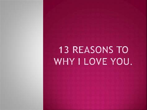 13 reasons to why i you