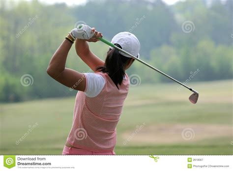 lady golf swing lady golf swing royalty free stock photography image