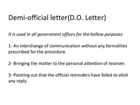 Demi Official Letter In Types Of Business Correspondence
