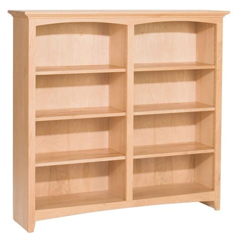 unfinished bookshelves whittier wood bookcase collection 48 quot wide