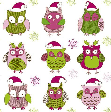 kata kunci kartun natal burung hantu pola topi kepingan salju merah hewan gambar