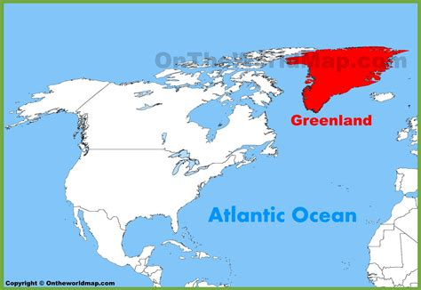map of greenland and america greenland location on the america map