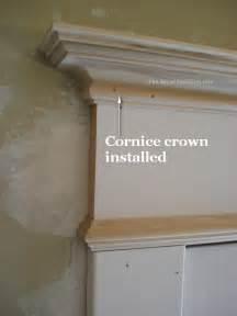 How To Instal Window Blinds - instal the cornice on the entablature the joy of moldings com
