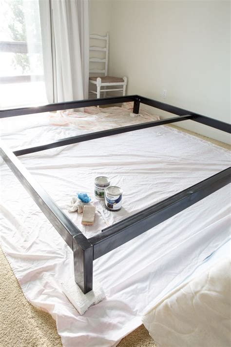 how to paint a bed simple diy headboard for the guest room in my own style