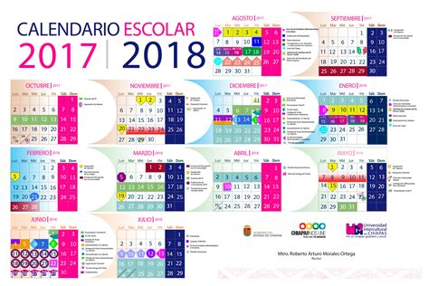 Calendario 2018 Mexico Sep Calendario Escolar 2016 2017
