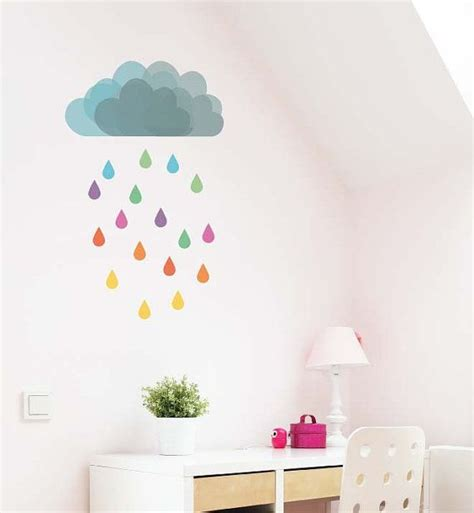 removable wall stickers australia cloud removable wall decal by littlestickerboy on