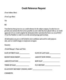 Business Credit Request Letter Sle 20 Business Reference Letter Exles