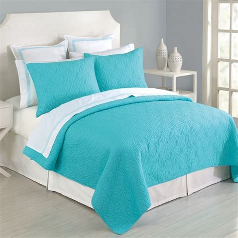 stylish turquoise white comforter set with 7pc queen size