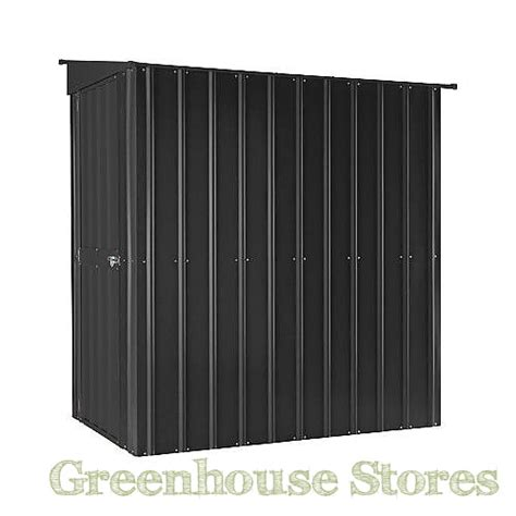 lotus  lean  shed anthracite grey greenhouse stores