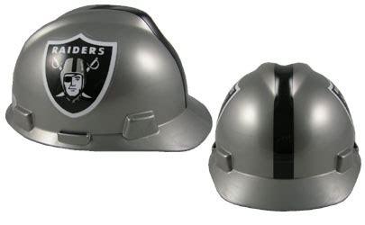 oakland raiders msa nfl team logo hard hat nfl safety helmets nfl