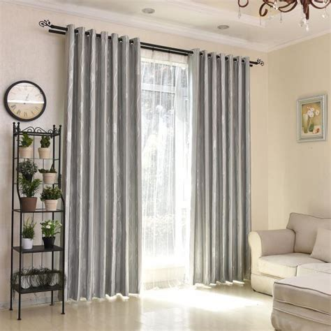 Silver Curtains For Bedroom by Silver Grey Jacquard Geometric Polyester Insulated Modern