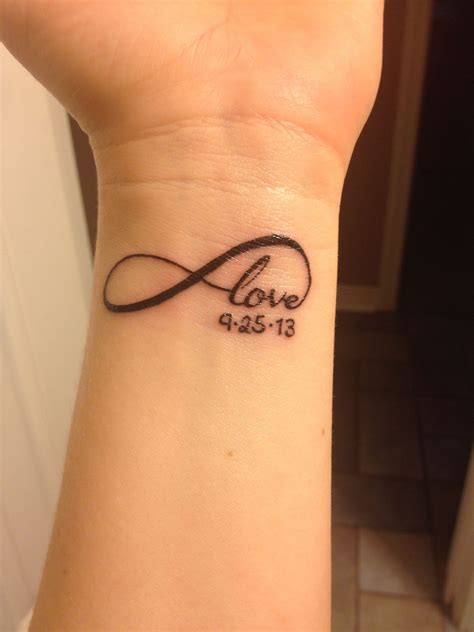 infinity tattoos piercings elkins love infinity tattoo with child s birthdate tattoos and