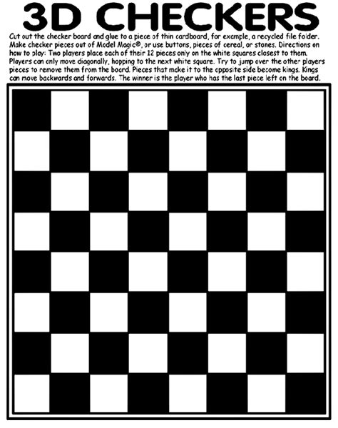 printable directions for checkers a test of 3d checkers crayola ca