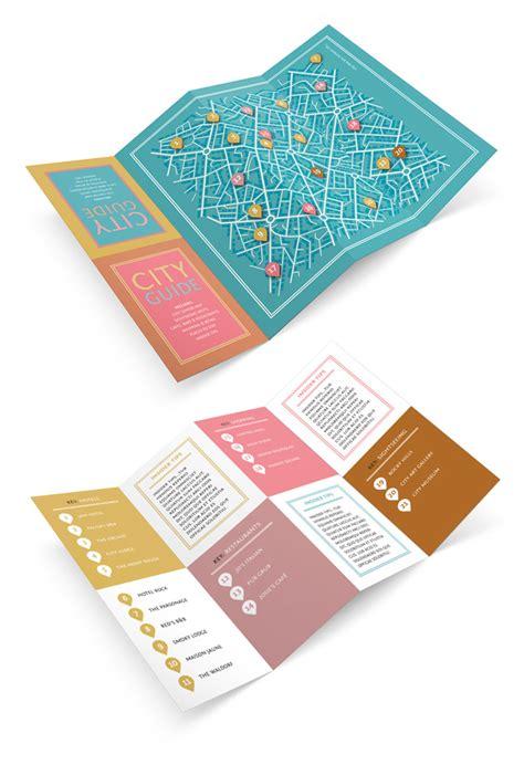 design  fold  city guide  adobe indesign