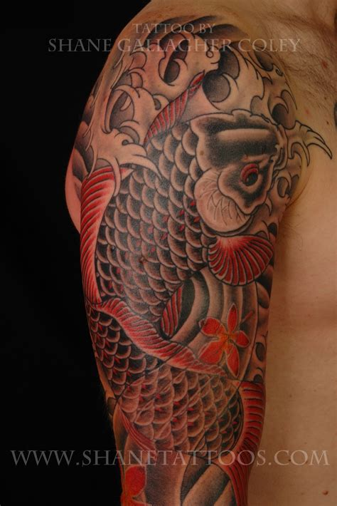 shane tattoos japanese koi