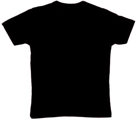 Tshirt Kaos Baju Hitam tshirt hitam hadapan clipart best