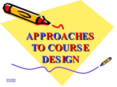 powerpoint design course approaches to course design