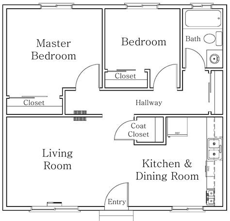 2 bhk home design layout bedrooms apartment floor plans bedroom home collection