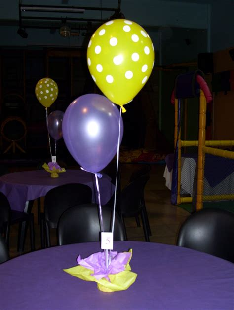 como hacer un centro de mesa con globos