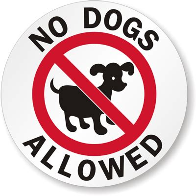 no puppies no dogs allowed symbol label