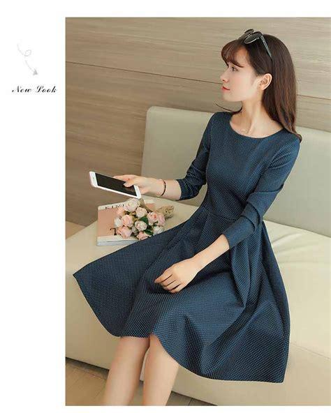 High Quality Dress Simple Korea Import dress polkadot terbaru import 2017 myrosefashion