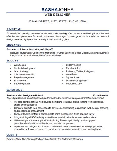 Resume Examples For Industrial Jobs by Web Designer Resume Example Development Seo Social Media