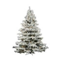 pre lit flocked artificial trees shop vickerman 7 5 ft pre lit alaskan pine flocked