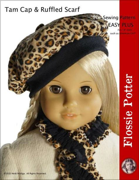 flossie potter tam hat ruffled scarf doll clothes