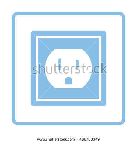 design frame outlet electric outlet icon black background white stock vector