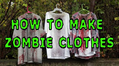 zombie shirt tutorial diy how to make zombie clothes youtube