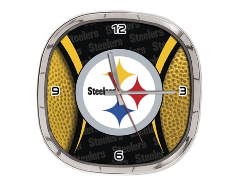 pittsburgh steelers fan shop nfl pittsburgh steelers wall clock fitness sports