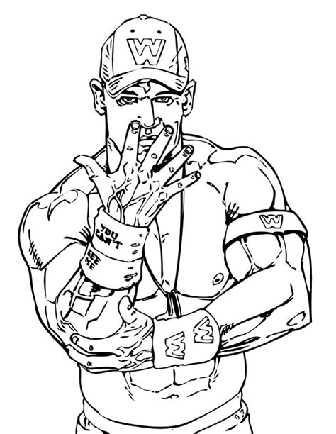 coloring page wwe coloring pages of wwe wrestlers coloring home