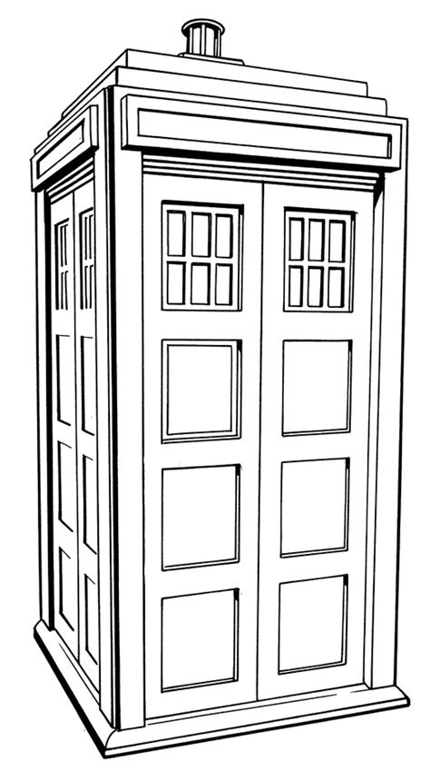 Free Coloring Pages Of Doctor Who Tardis Console Tardis Coloring Page