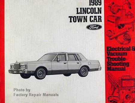 1989 lincoln town car electrical vacuum troubleshooting manual original ford factory