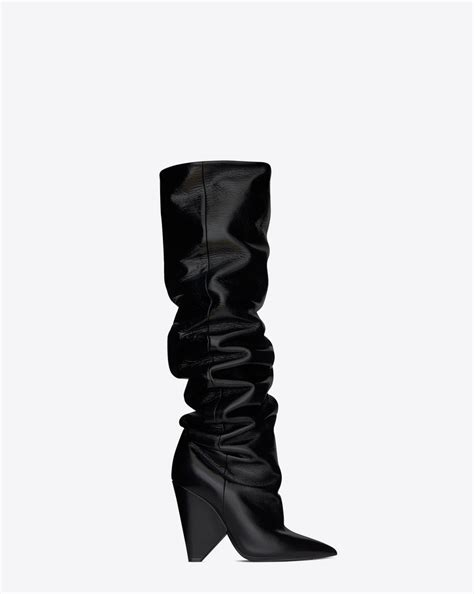 laurent niki 105 thigh high boot in black moroder