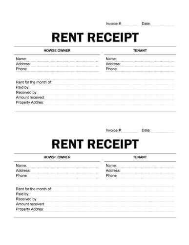 rent receipt word doc rent receipt word document receipt form in doc