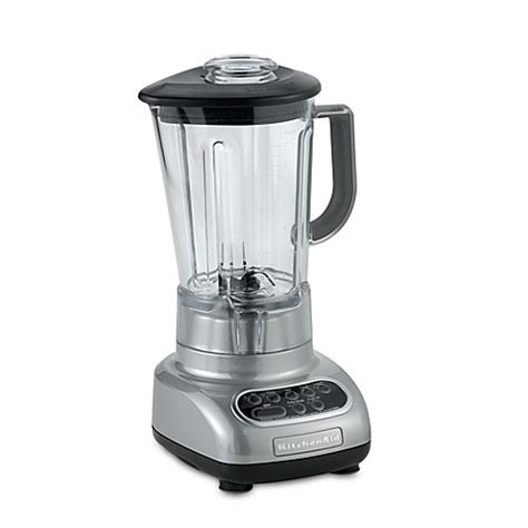 kitchenaid bed bath and beyond kitchenaid 174 5 speed blender with 56 ounce polycarbonate pitcher in chrome bed bath