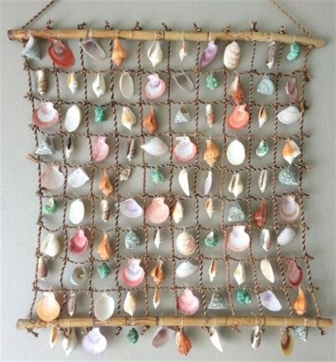 seashell net wall hanging could be driftwood