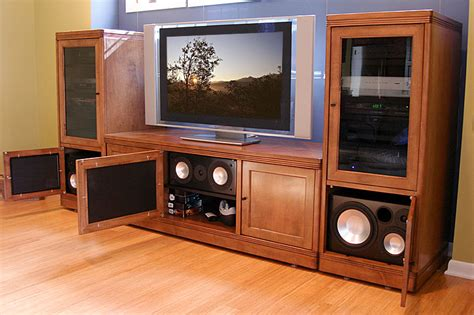 tv stands audio cabinets theater tech system four wall unit tt 400 tv stand and